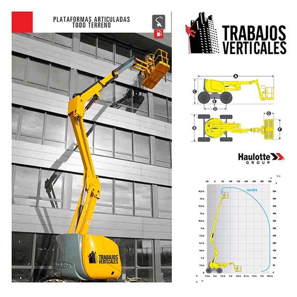 imagen de la plataforma elevadora de brazo de trabajos verticales palma